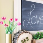 Valentine's Day Mantel {all you need is love…and flowers}