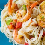 Spicy Garlic Lime Shrimp & Pasta