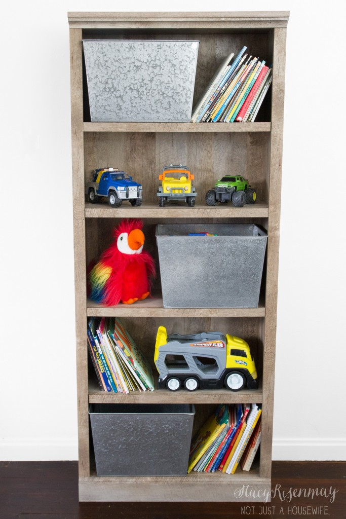 bookcase used  for toys