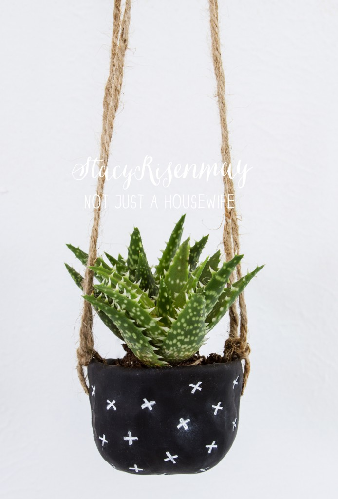 hanging clay planter tutorial