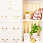 White and Gold Dresser Makeover