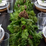 Holiday Tablescape with Greenery