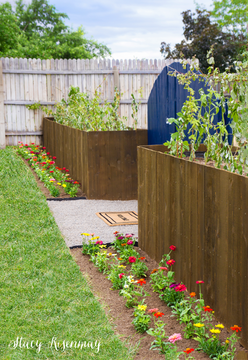 Planter boxes that are also a fence!