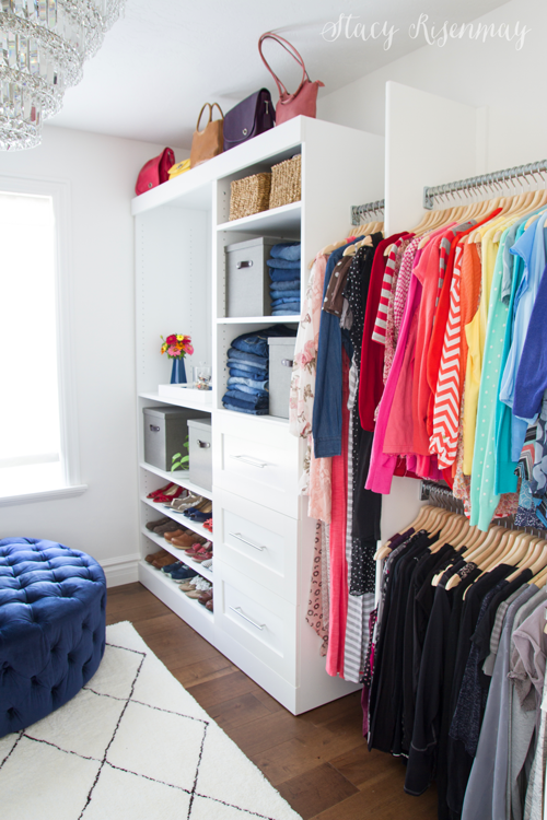 Walk-in closet makeover!
