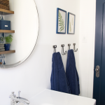 Blue and White Bathroom Makeover