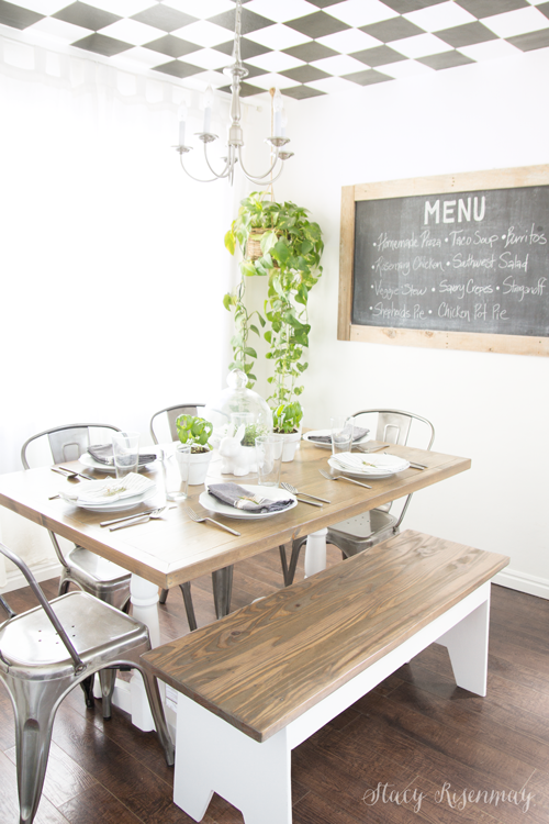 New tabletop stained with Weather Oak by Minwax