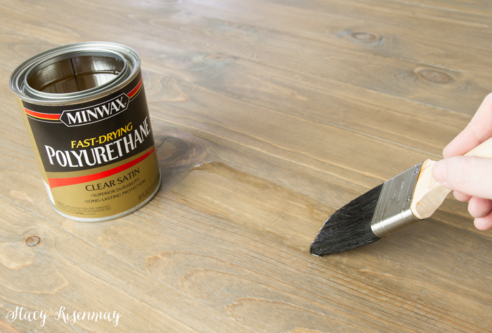 seal the tabletop with polyurathane