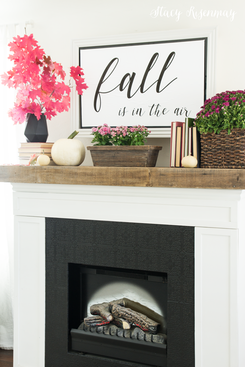 Fall decor for your mantel