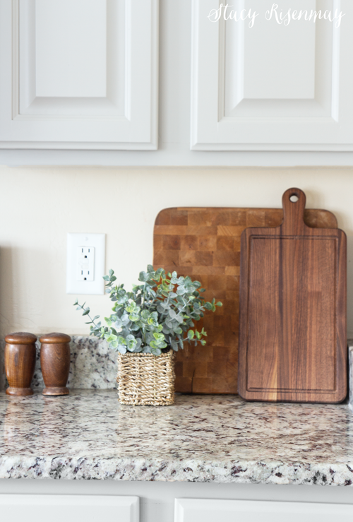 wood cutting boards in kitchen