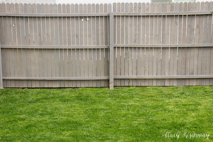 fence stained gray