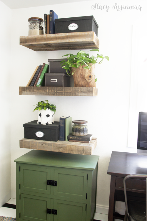 shelving and cabinet in office