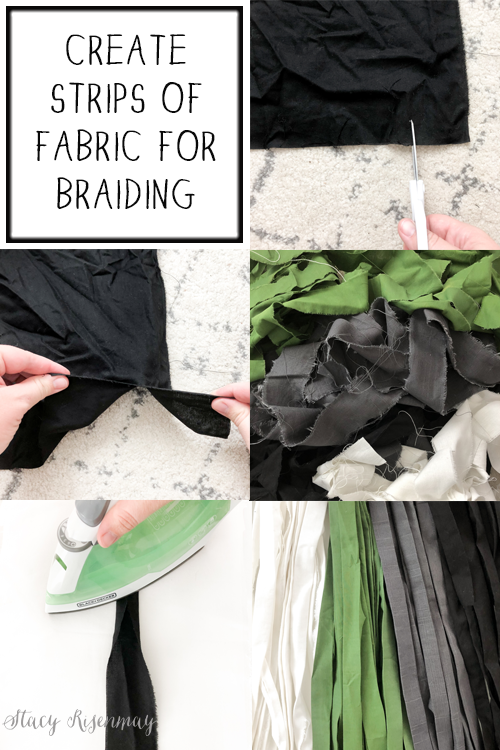 making strips of fabric