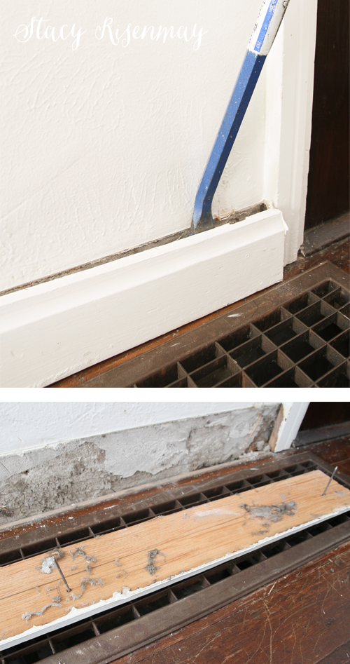 removing old baseboards