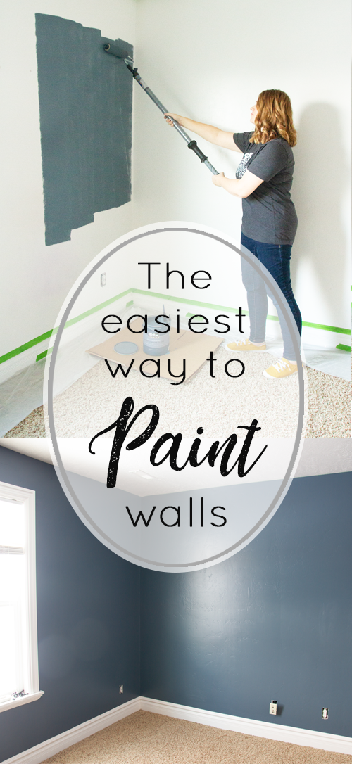 The Easiest Way To Paint Walls! #painting #DIY #Paintstick #paint #behrNYPD #blue #paintingwalls #paintingtips